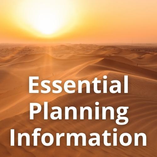 Essential Planning Information - overlay on Abu Dhabi Desert