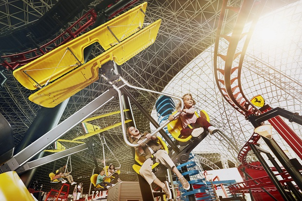 Flying Wings Ride at Ferrari World's new Family Zone