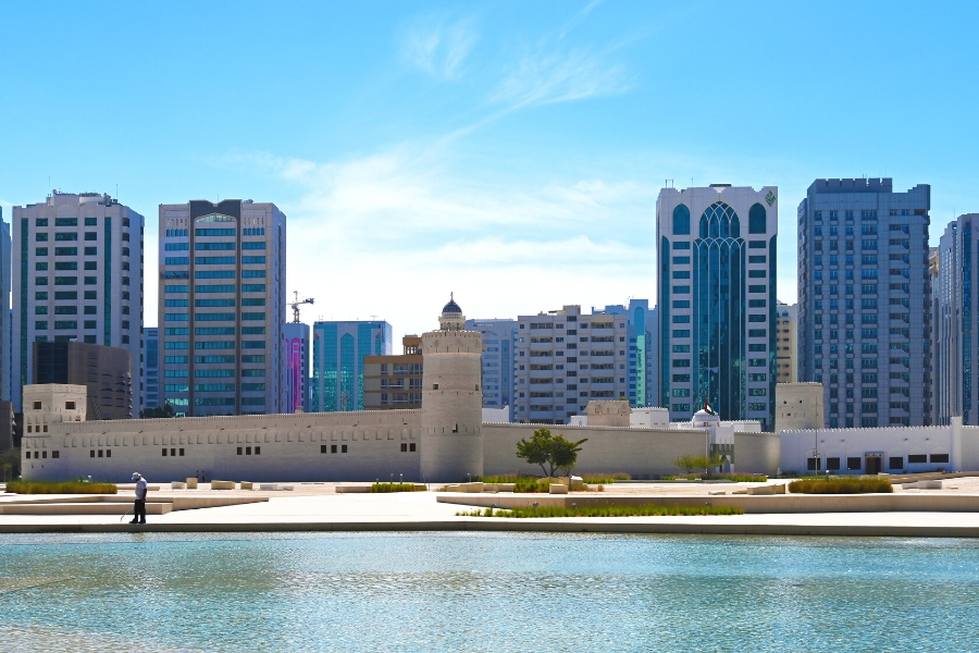 Qasr al Hosn historic site in the centre of Abu Dhabi city