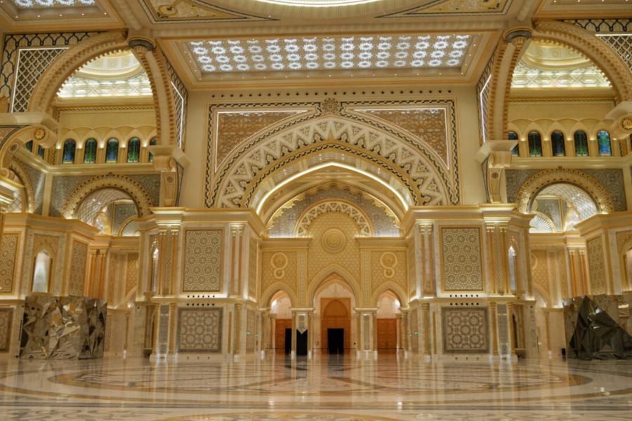 Inside the Great Hall of Qasr Al Watan the UAE Presidential place in Abu Dhabi