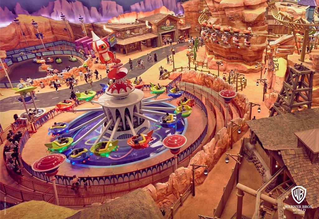 Dynamite Gulch theme park rides inside WB World Abu Dhabi