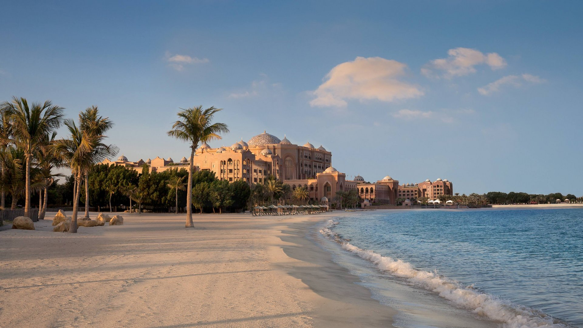 Emirates Palace Beach in Abu Dhabi