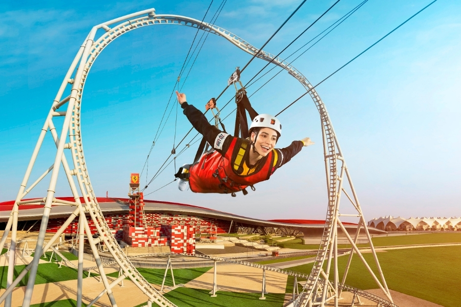 Zip Line at Ferrari World Abu Dhabi