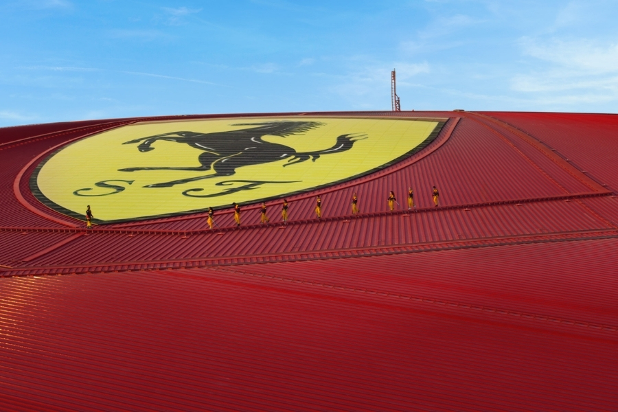 Ferrari World new Roof Walk experience