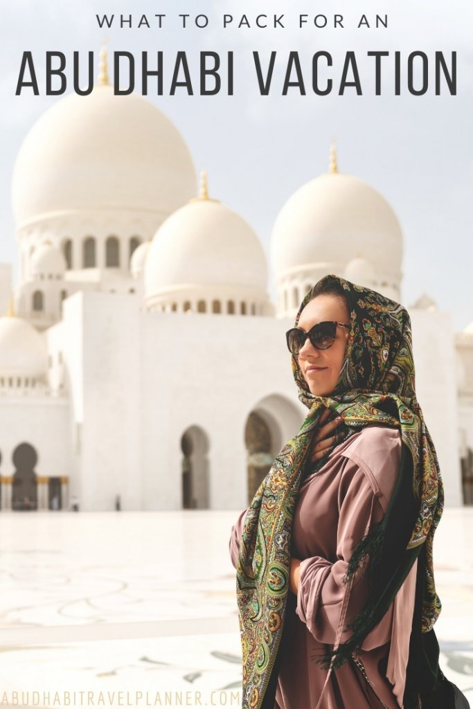 A lady wearing conservative clothing at abu Dhabi mosque