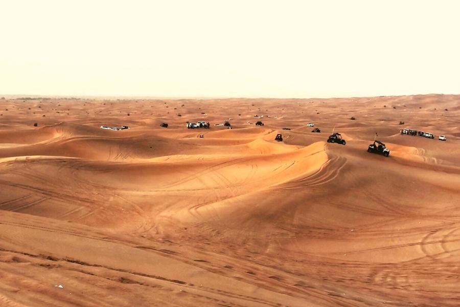 4wd cars in the desert UAE on safari