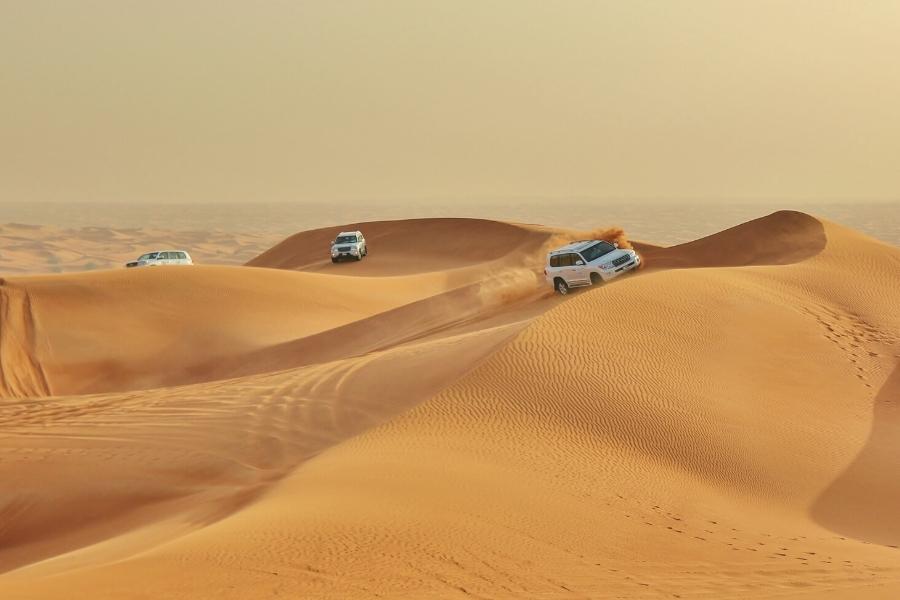 $WD dune bashin in the Abu Dhabi desert